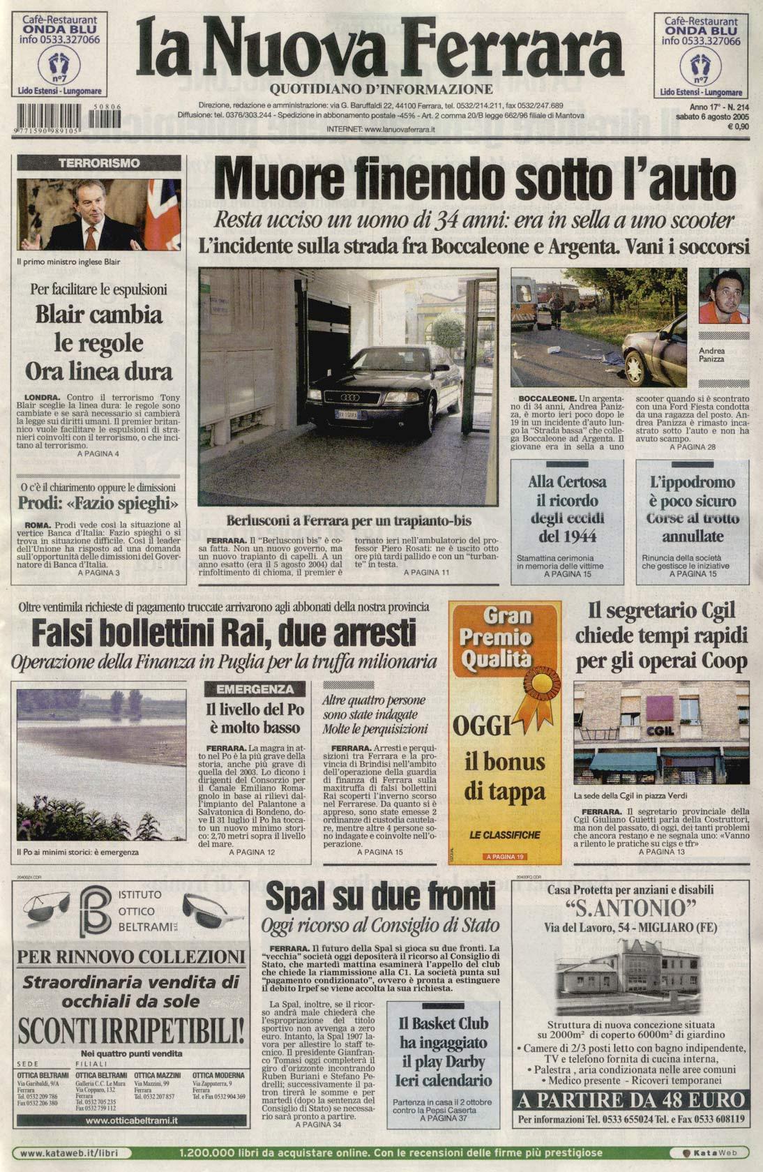 Berlusconi a Ferrara per un trapianto bis - La Nuova Ferrara - Prima Pagina