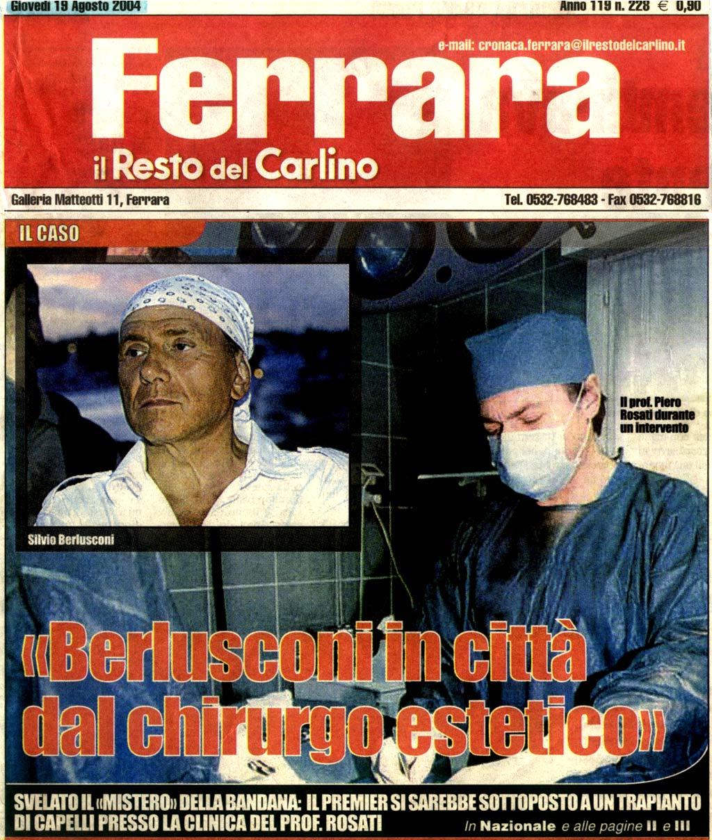Berlusconi: un segreto sotto la bandana - I nuovi capelli di Silvio - Articolo 1