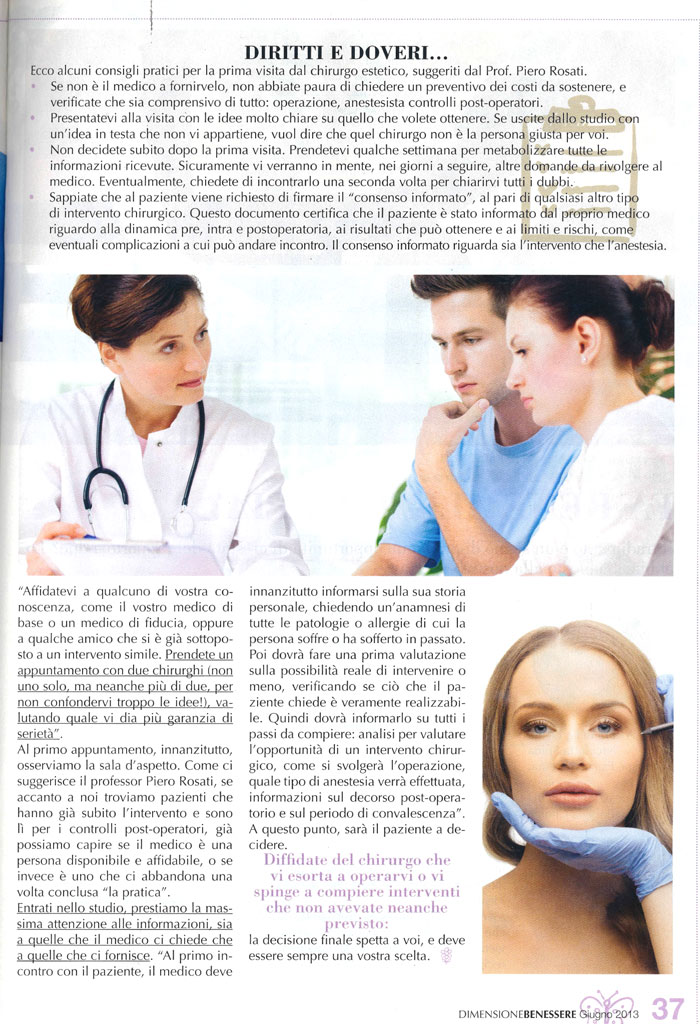 Come scegliere il chirurgo giusto - Dimensione Benessere articolo 2