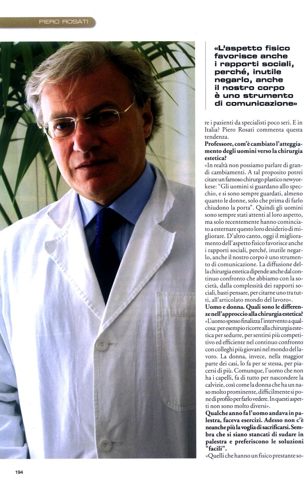 La vanità è anche uomo - articolo di Sanissimi su Piero Rosati 3