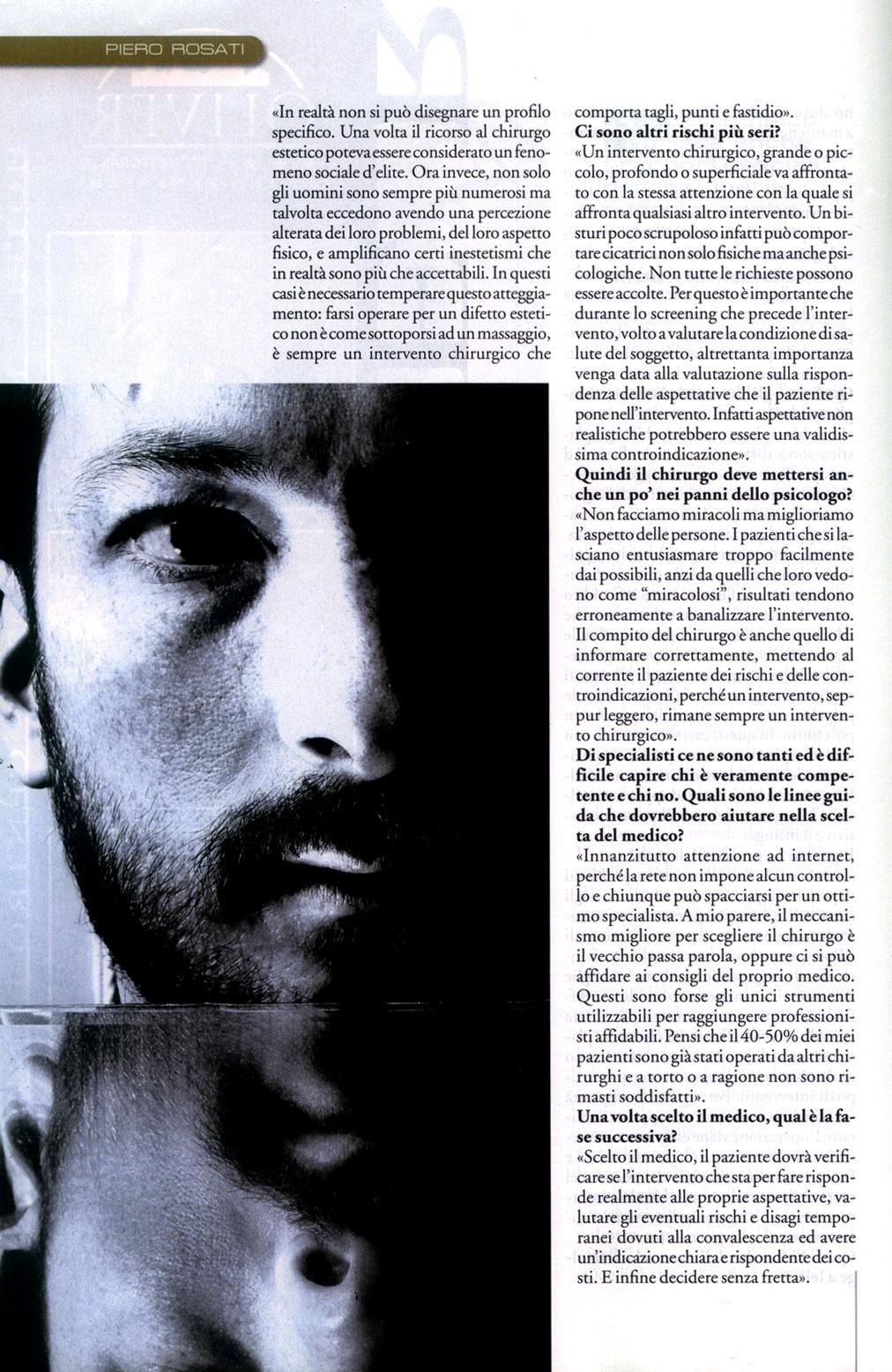 La vanità è anche uomo - articolo di Sanissimi su Piero Rosati 5