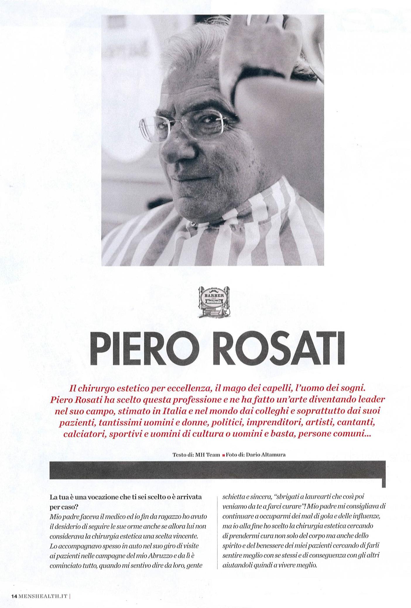 Piero Rosati: il mago dei capelli, l'uomo dei sogni - Men's Health articolo 1