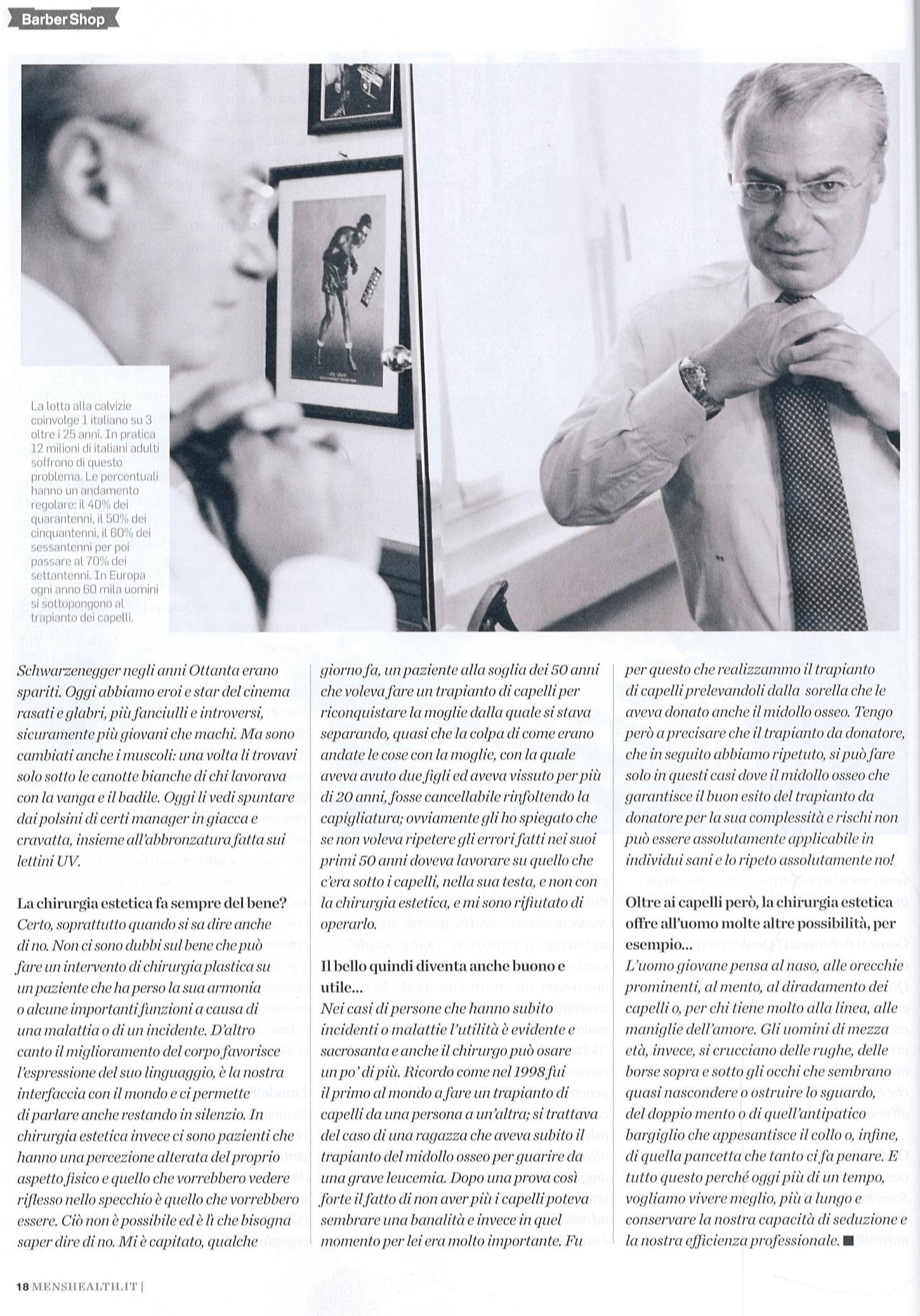 Piero Rosati: il mago dei capelli, l'uomo dei sogni - Men's Health articolo 5