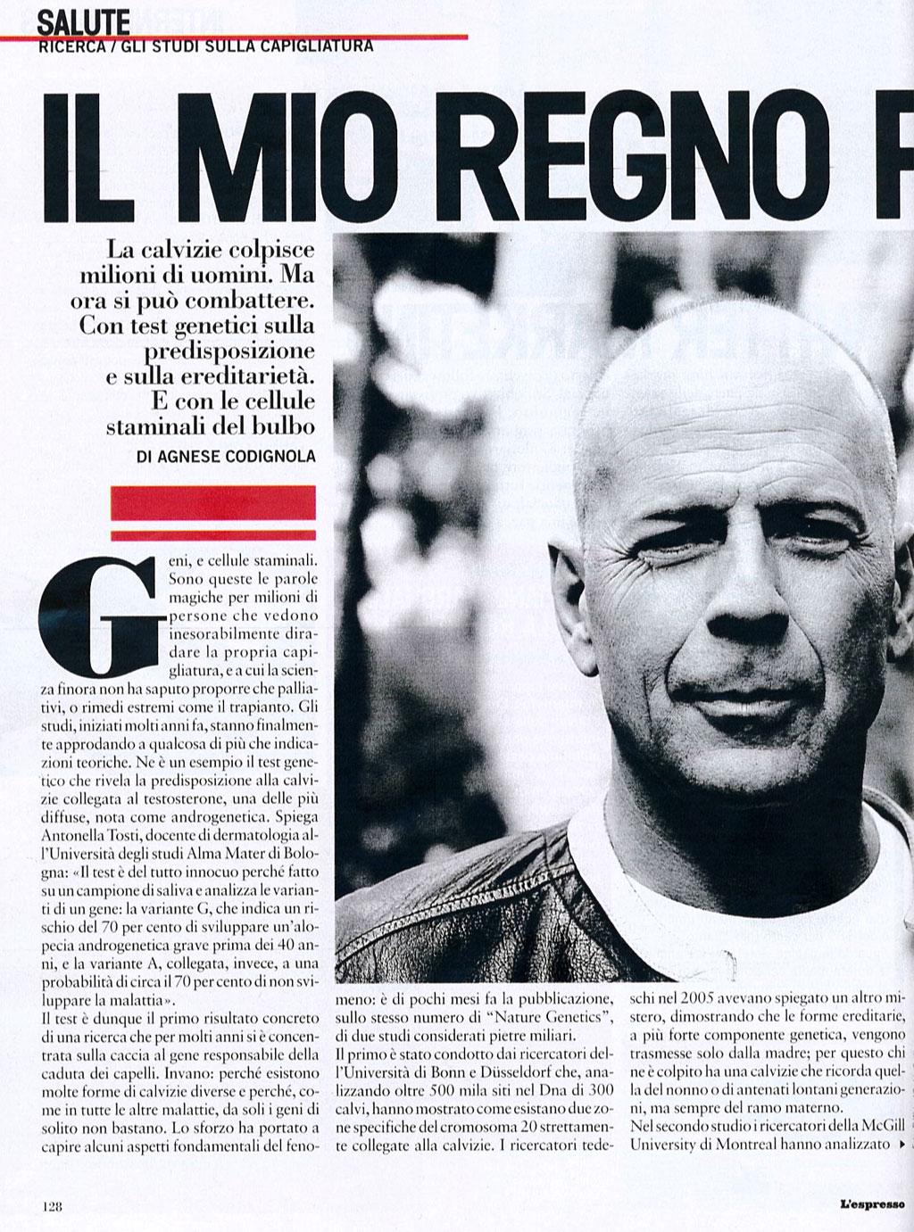 Parla il mago del trapianto - Articolo su Piero Rosati su L'Espresso 1