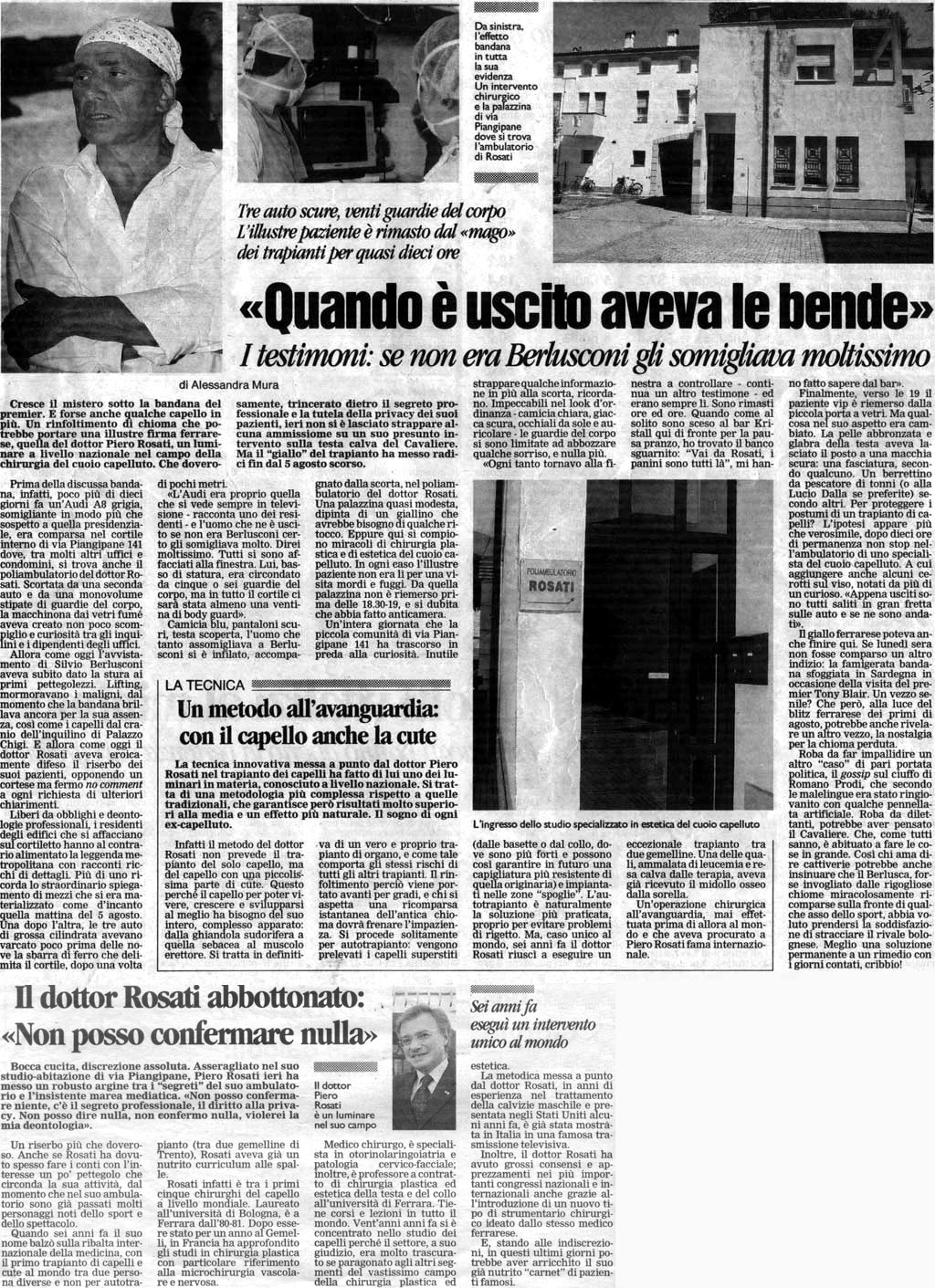 Piero Rosati eseguì un intervento unico al mondo - Articolo completo